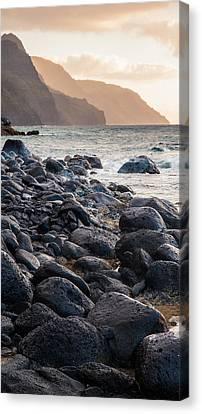 Na Pali Lava Rocks Canvas Print by Adam Pender