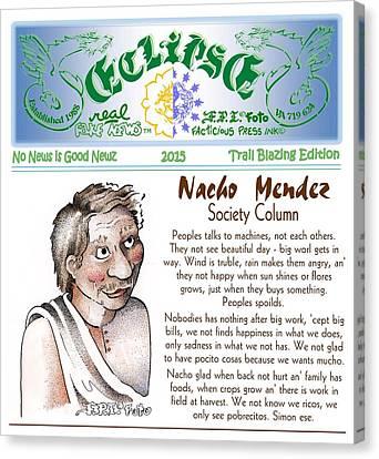 Real Fake News Society Column 1 Canvas Print