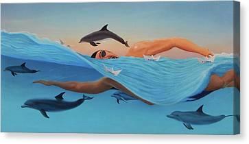 Nadando Contra Corriente Canvas Print