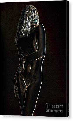 Nadia Fine Art Nude Photograph In Color 139.02 Canvas Print by Kendree Miller