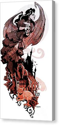 Nadja's Flight Canvas Print by Brian Kesinger