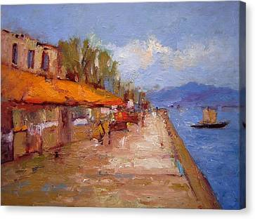 Nafplio Greece Canvas Print by R W Goetting