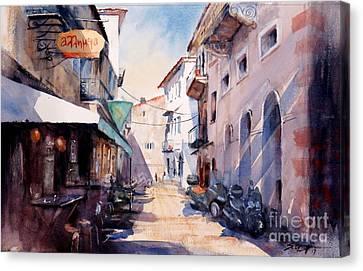 Nafplio Old Town 2 Canvas Print by Sof Georgiou