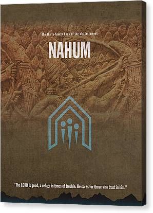 Nahum Books Of The Bible Series Old Testament Minimal Poster Art Number 34 Canvas Print
