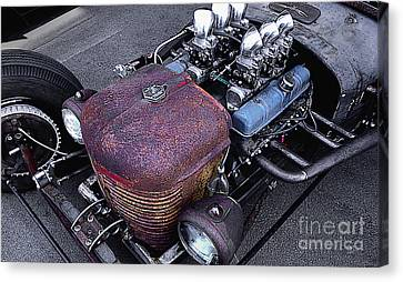 Nail Head Rat Rod Canvas Print by Curt Johnson