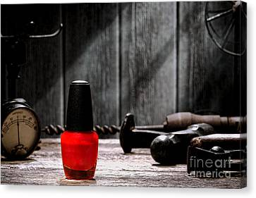 Nail Polish Canvas Print by Olivier Le Queinec