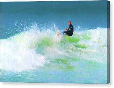 Clemente Canvas Print - Nailed It Surfing Watercolor by Scott Campbell