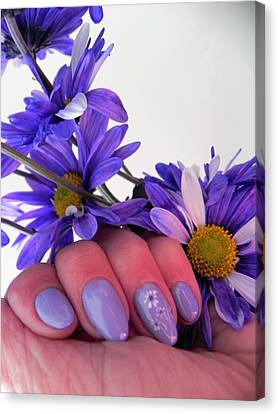 Nails Of Beauty Canvas Print