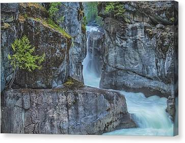 Canvas Print featuring the photograph Nairn Falls by Jacqui Boonstra