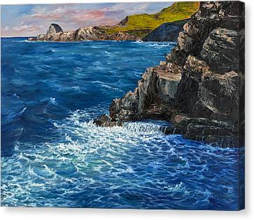 Canvas Print featuring the painting Nakalele Point Maui by Darice Machel McGuire
