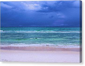 Panama City Beach Canvas Print - Naked Beach by Theresa Campbell
