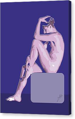 Naked Boy Canvas Print by Joaquin Abella