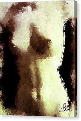 Canvas Print featuring the painting Naked Female Torso  by Joan Reese