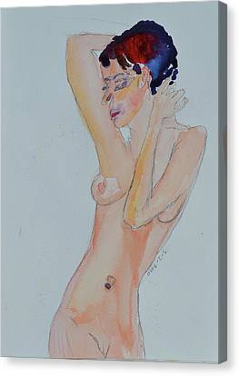 Canvas Print featuring the painting Naked Noelle by Beverley Harper Tinsley