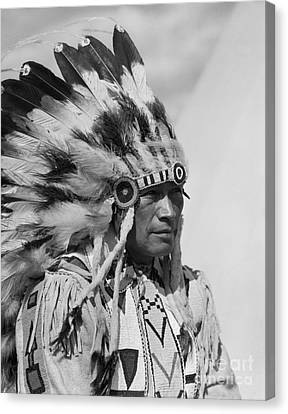 Native American Clothes Canvas Print - Nakoda Man, C.1920s by H. Armstrong Roberts/ClassicStock