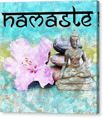 Namaste Buddha Canvas Print