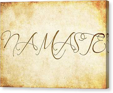 Namaste Grunge Canvas Print