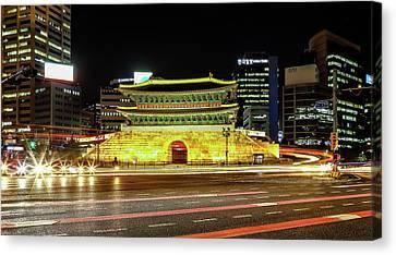 Night-scape Canvas Print - Namdaemun by Hyuntae Kim