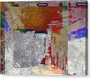 Canvas Print featuring the mixed media Name This Piece by Tony Rubino