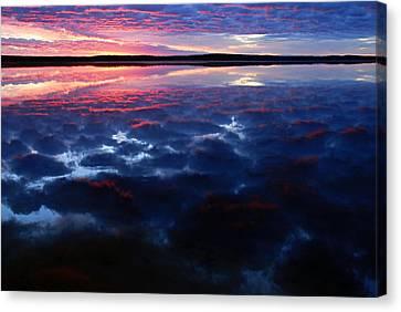 Namekus Lake Sunrise Canvas Print by Larry Ricker