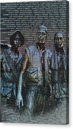 Names And Faces  Panel W41 Canvas Print by George Bostian