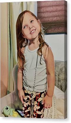 David Hoque Canvas Print - Nana's Necklace by David Hoque