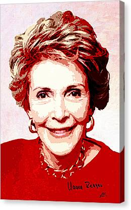 Nancy Reagan Portrait Canvas Print