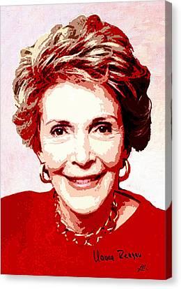 Nancy Reagan Portrait Canvas Print by Linda Mears
