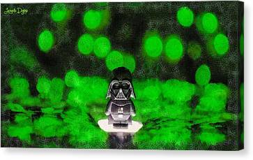 Nano Darth Vader - Da Canvas Print