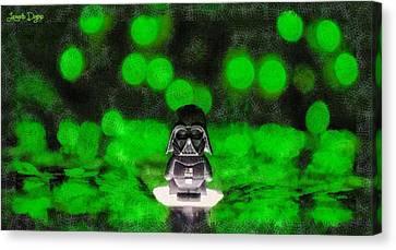 Lego Canvas Print - Nano Darth Vader - Pa by Leonardo Digenio