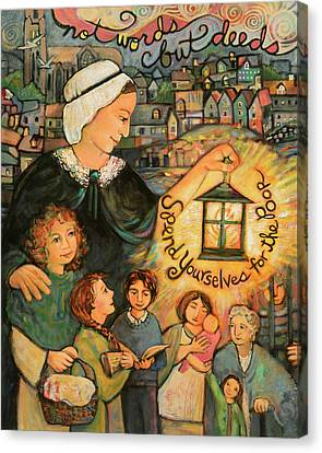 Nano Nagle, Foundress Of The Sisters Of The Presentation Canvas Print by Jen Norton