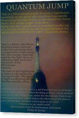 Nanomicroinfinity Art Quantum Jump Canvas Print