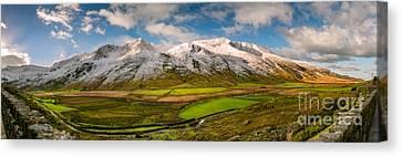 Nant Ffrancon Winter Panorama Canvas Print