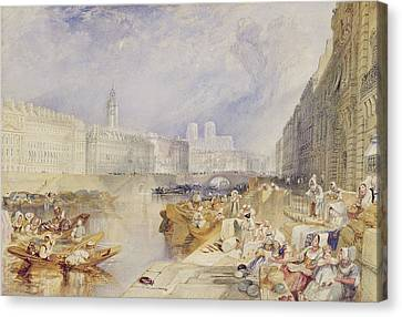Nantes Canvas Print by Joseph Mallord William Turner