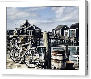 Nantucket Bikes 1 Canvas Print by Tammy Wetzel