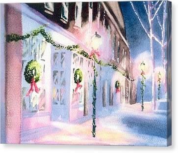 Nantucket Christmas Canvas Print by Joseph Gallant