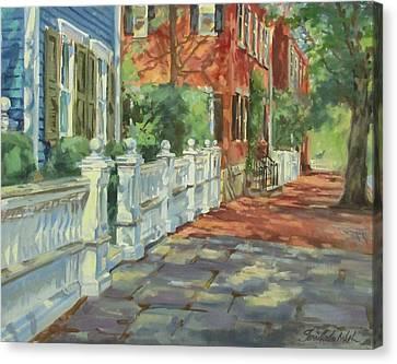 Nantucket Canvas Print - Nantucket Colors by Sharon Jordan Bahosh