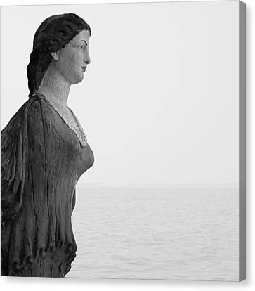 Nantucket Figurehead Canvas Print by Charles Harden