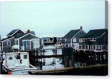 Nantucket Harbor Canvas Print by Desiree Paquette