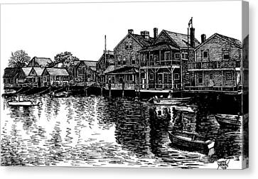Nantucket Harbor Number Two Canvas Print by Dan Moran