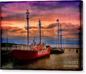 Nantucket Lightship Canvas Print by Jeff Breiman