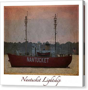 Nantucket Lightship  Canvas Print by Lori Whalen