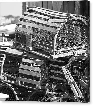Nantucket Lobster Traps Canvas Print by Charles Harden