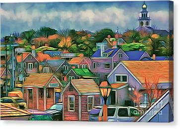 Nantucket Nestles Around The Port Canvas Print by Jack Torcello