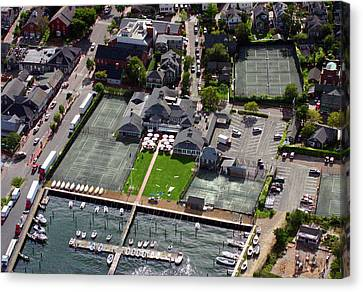 Nantucket Yacht Club Large Format Aeiral Photograph Canvas Print by Duncan Pearson
