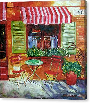 Napa Bistro Canvas Print by David Lloyd Glover