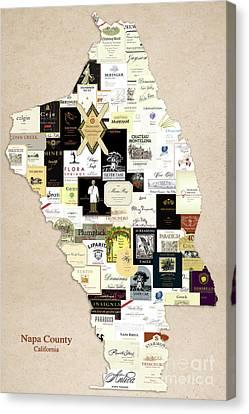 Labelled Canvas Print - Napa County California by Jon Neidert