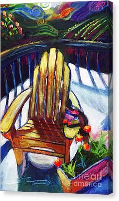 Napa California Deck Chair Canvas Print