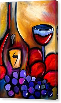 Napa Mix - Abstract Wine Art By Fidostudio Canvas Print by Tom Fedro - Fidostudio