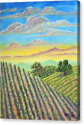 Napa Sunrise After Storm Canvas Print by William Williams